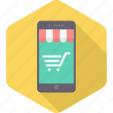 cart, ecommerce, mobile, online, pocket, shop, shopping icon