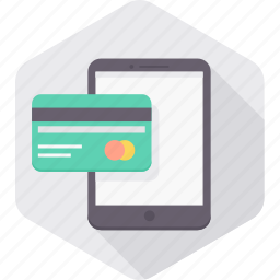 card, credit, finance, mobile, pay, payment, smartphone icon