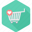 add, buy, cart, ecommerce, online, shopping, wishlist icon