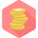 banking, budget, cash, coins, finance, money, payment icon