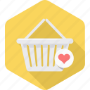 add, basket, cart, ecommerce, online, to, wishlist icon