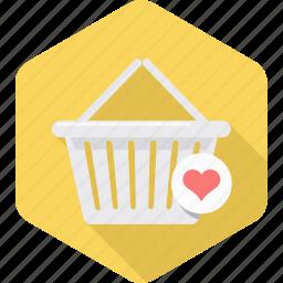 add, basket, cart, ecommerce, online, to, wishlist icon