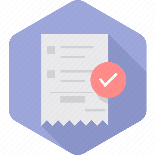 accept, approve, bill, invoice, paid, pass, passed icon