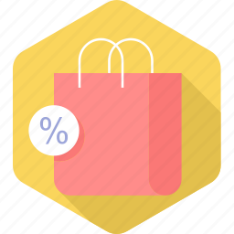 commerce, discount, percentage, price, purchasing, sale, shopping icon