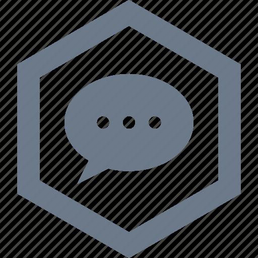comment, conversation, message, sms, speak, speech, talk icon