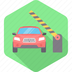 car, check, checking, point, road, stop, traffic icon