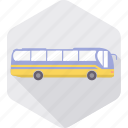 bus, public, tourist bus, transport, transportation, travel, vehicle icon
