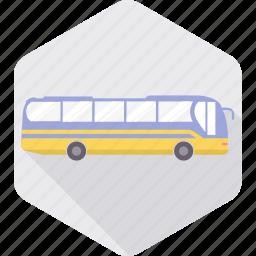 bus, public, tourist bus, transport, transportation, travel, vehicle icon