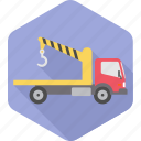 cargo, construction, crane, lifter, lorry, transport, work icon