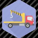 crane, cargo, construction, lifter, lorry, transport, work