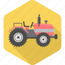 agriculture, farm, farming, field, tractor, transport, vehicle icon