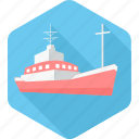 boat, marine, ocean, sea, ship, transport, water icon