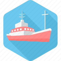boat, marine, ocean, sea, ship, transport, water icon