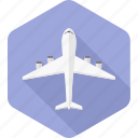 aeroplane, airline, airplane, aviation, flight, plane, transportation icon