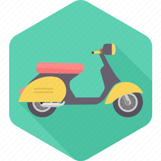 activa, motorcycle, motorscooter, scooter, two wheelers, twowheel, vespa icon