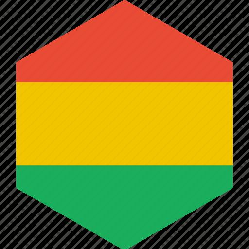 bolivia, country, flag, world icon