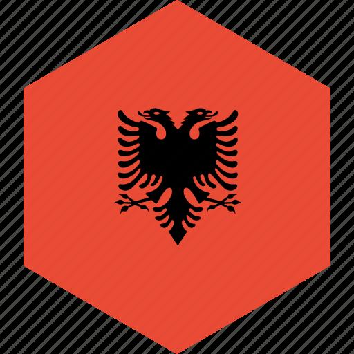 albania, country, flag, world icon