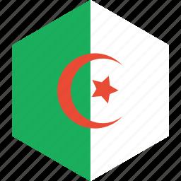 algeria, country, flag, world icon