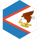 american, country, flag, samoa, world icon