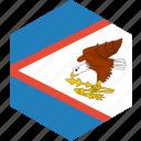 american, country, flag, samoa, world icon