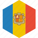 andorra, country, flag, world icon