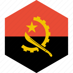 angola, country, flag, world icon
