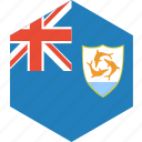 anguilla, country, flag, world icon