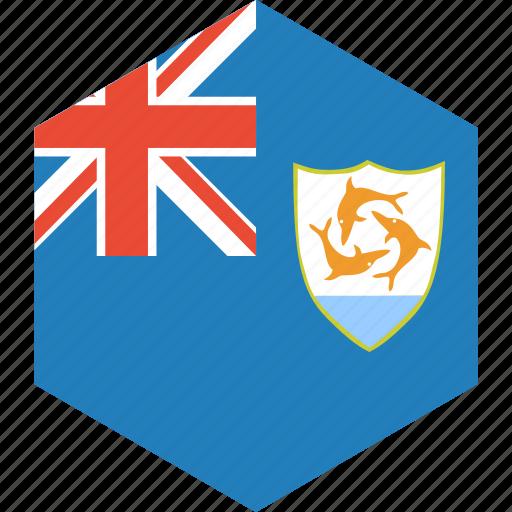 anguilla, country, flag, world icon