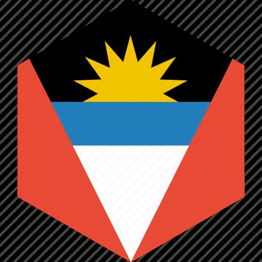 and, antigua, barbuda, country, flag, world icon
