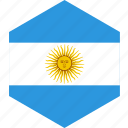 argentina, country, flag, world icon