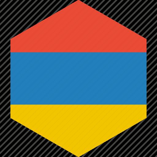 armenia, country, flag, world icon