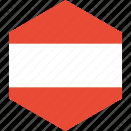 austria, country, flag, world icon