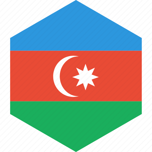 azerbaijan, country, flag, world icon