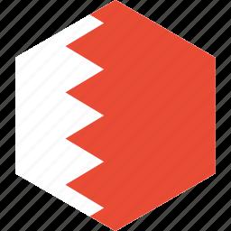 bahrain, country, flag, world icon