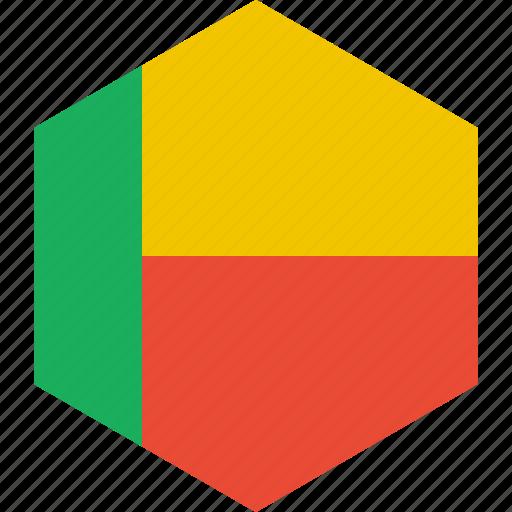benin, country, flag, world icon
