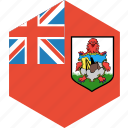 bermuda, country, flag, world icon