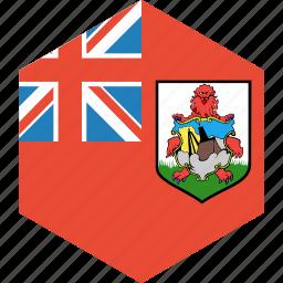bermuda, country, flag, world icon
