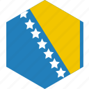 and, bosnia, country, flag, herzegovina, world icon