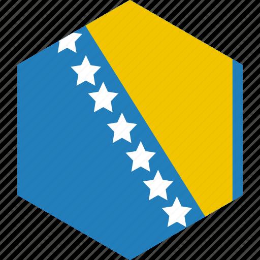 and, bosnia, country, flag, herzegovina, world icon