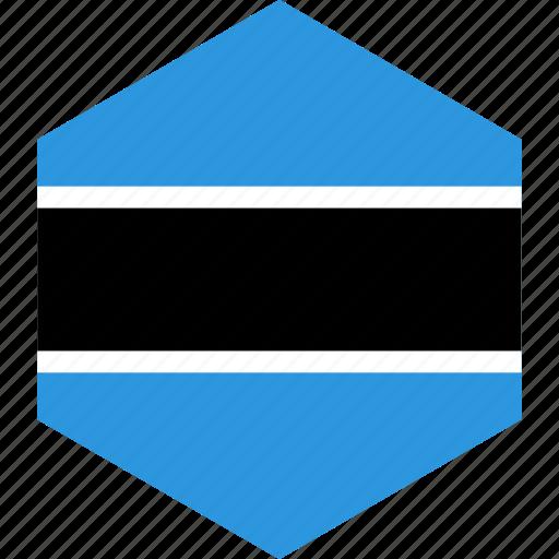 botswana, country, flag, world icon