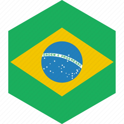 brazil, country, flag, world icon