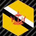 brunei, country, flag, world