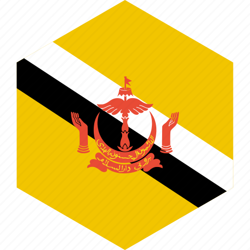 brunei, country, flag, world icon