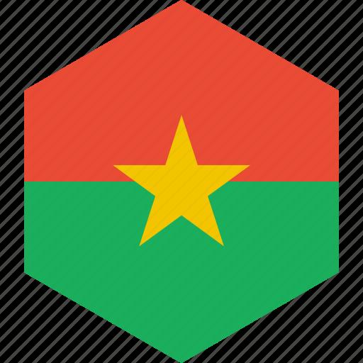 burkina, country, faso, flag, world icon