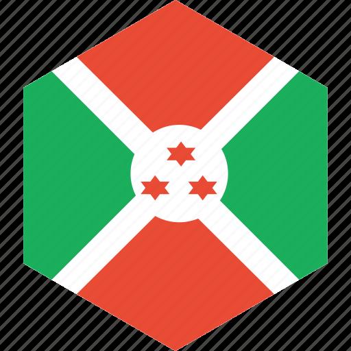 burundi, country, flag, world icon