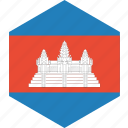 cambodia, country, flag, world icon
