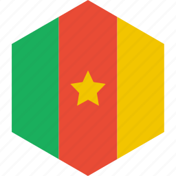 cameroon, country, flag, world icon
