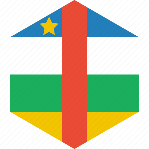 african, central, country, flag, republic, world icon