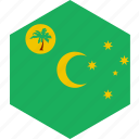 cocos, country, flag, islands, world icon