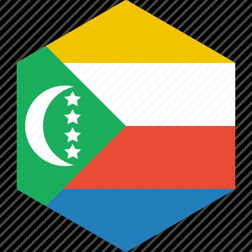 comoros, country, flag, world icon